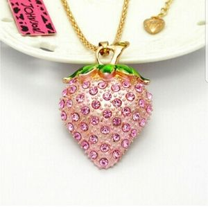 Betsey Johnson Strawberry Necklace